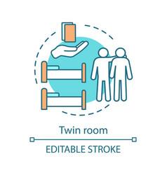 twin room concept icon vector image