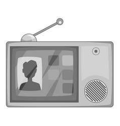 Video intercom icon monochrome vector