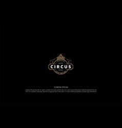 vintage retro circus tent badge label emblem vector image