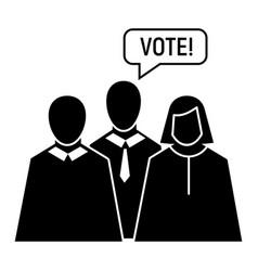vote oratory icon simple style vector image