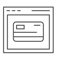 Web shopping thin line icon computer browser and vector