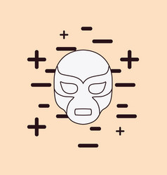 wrestler mask icon vector image