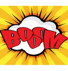 Boom Pop Art Comic Book Speech Bubble Background vector image