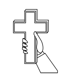 Christian cross isolated icon vector image vector image