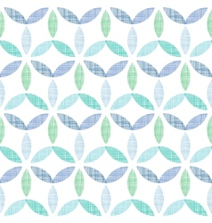 Abstract textile blue green leaves seamless vector image