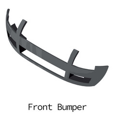 front bumper icon isometric 3d style vector image vector image