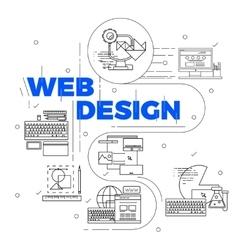 Line Art Design Concept vector image vector image