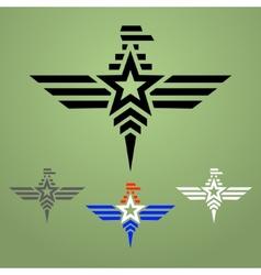 Military style eagle emblem set vector image vector image