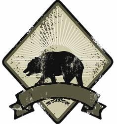 bear army emblem vector image vector image