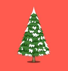 christmas tree xmas icon cartoon style vector image vector image