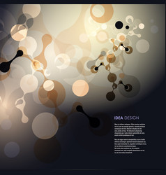 molecules background vector image vector image