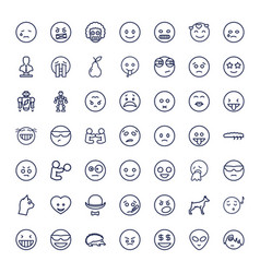 49 character icons vector