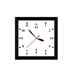 a clock icon in color time minute vector image