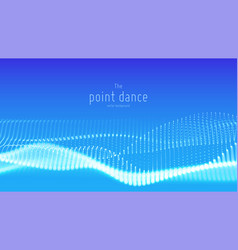 Abstract blue particle wave points array vector