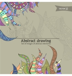 abstract drawning vector image