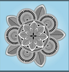 Alpana design or mandala design vector