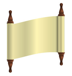 an empty scroll is an open scroll to insert vector image