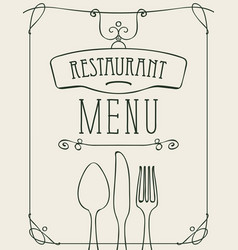 Banner for a restaurant menu with cutlery vector