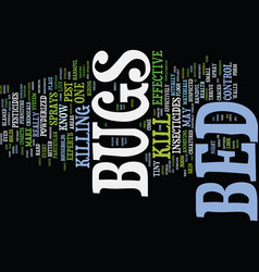 Bed bugs in hotels text background word cloud vector