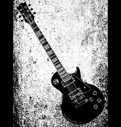 Black blues guitar grunge vector