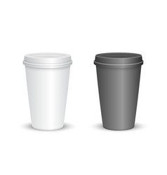 blank coffee cup vector image
