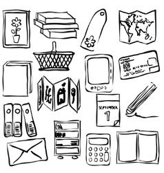 bookshop sketch images vector image