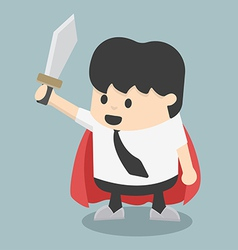 Businessman sword vector image