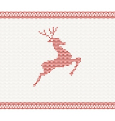Christmas and Winter knitted pattern vector image
