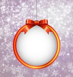 Christmas Ball with Bow vector image