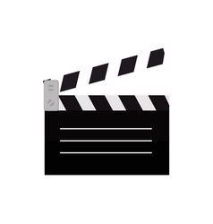 clapperboard cinema isolated icon vector image