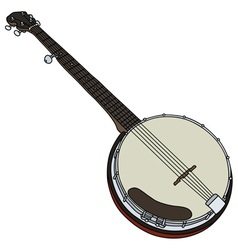 Classic five string banjo vector