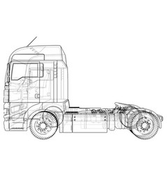 Commercial cargo delivery truck isolated created vector