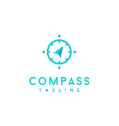 Compass minimalist logo design icon vector