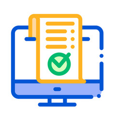 computer internet payment thin line icon vector image