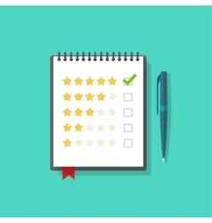 Concept satisfaction feedback customer reviews vector