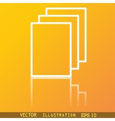 Copy file icon symbol flat modern web design with vector