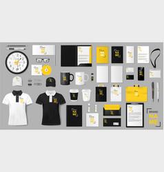 Corporate identity template design realistic vector