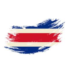 Costa rican flag grunge brush background vector