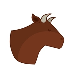 Cow meat butchery icon vector