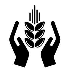 Crop protection icon simple black style vector