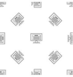 Digital tax report pattern seamless vector