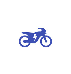 Electric bike motorcycle icon on white vector