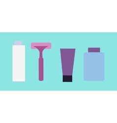 Elements for Boys Face Wash Shaving Accessories vector image