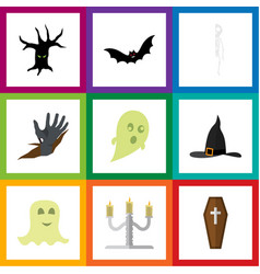 Flat icon celebrate set of phantom superstition vector