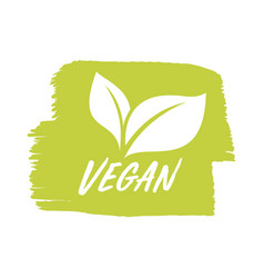 for vegan product shop tags vegetarian label or vector image