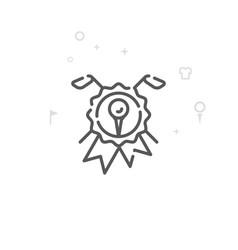 Golf club seal emblem line icon symbol pictogram vector