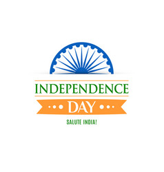 greeting card for celebrating independence day vector image