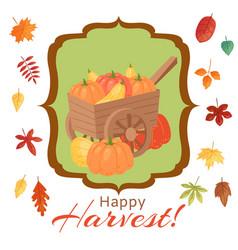 happy thanksgiving pumpkins vector image