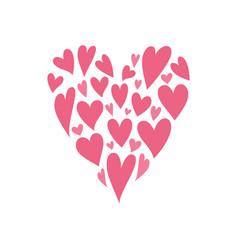 heart shape isolated on white background vector image