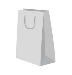 High paper bag mockup realistic style vector
